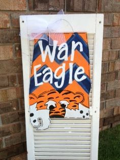 Hey, I found this really awesome Etsy listing at http://www.etsy.com/listing/161201471/state-of-alabama-war-eagle-door-hanger