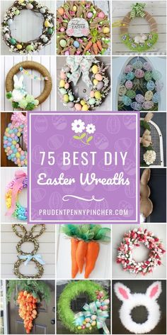75 Best DIY Easter Wreaths 75 Best DIY Easter Wreaths 75 Best DIY Easter Wreaths Give your front door look a cheery and colorful makeover for spring with these DIY Easter wreaths. There are DIY bunny wreaths, floral wreaths & Spring Crafts, Holiday Crafts, Creative Crafts, Diy And Crafts, Diy Crafts For Easter, Diy Crafts Cheap, Decor Crafts, Easy Crafts, Diy Ostern