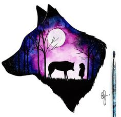 51 Trendy tattoo wolf girl drawing wolves 51 Trendy tattoo wolf girl drawing wolves This image has get. Artwork Lobo, Wolf Artwork, Anime Wolf, Cute Animal Drawings, Cute Drawings, Drawings Of Wolves, Wolves Art, Wolf Painting, Gouache Painting