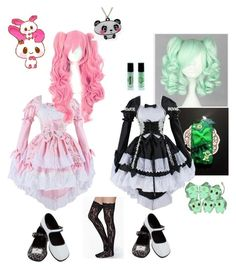 """""""Maid cafe"""" by kitkat0305 ❤ liked on Polyvore featuring cutekawaii, Punky Pins, women's clothing, women, female, woman, misses and juniors"""
