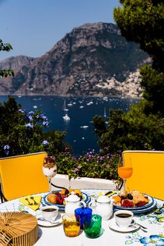 Positano, Italy - Breakfast with a view