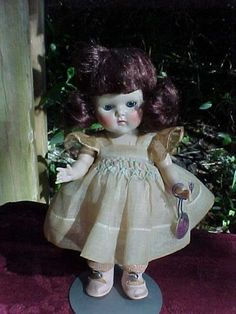 "Vintage Vogue 8"" Strung Ginny Debutante Angela #65 from 1952 High Cheek Color #Dolls"