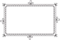 Free Clip Art & Brushes – Digital Frames with Scalloped Borders…
