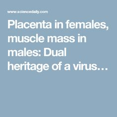 Placenta in females, muscle mass in males: Dual heritage of a virus…