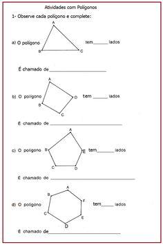 Atividades com polígonos  |   Rérida Maria