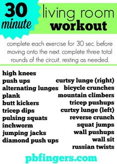 30 Minute Workout: Easy to do at home! No equipment needed!