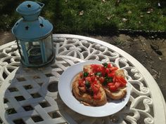 anchovies, tomatoes, basil and truffle oil, on sourdough toast. lunch @ home.