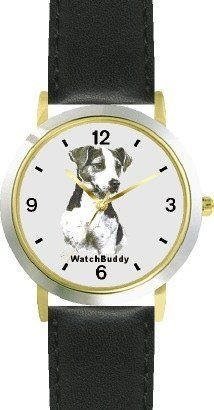 Jack Russell Terrier (MS) Dog - WATCHBUDDY® DESIGNER DELUXE TWO-TONE THEME WATCH - Arabic Numbers-EVENING TWILIGHT STYLE - Gray Dial with Black Leather Strap-Children's Size-Small ( Boy's Size & Girl's Size ) WatchBuddy. $49.95. Save 38%!
