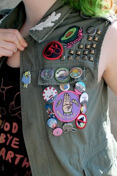 Vest with patches - need a Queer Scout pin right meow