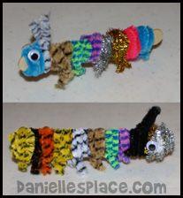 Caterpillar Craft from www.daniellesplace.com