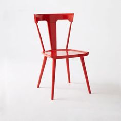 Splat Dining Chair, Vermillion - West Elm -- not sure it would work with the paint color / kitchen counters?