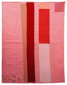 Colorado Quilt by Folk Fibers Vintage wool, linen, and cotton fabrics arranged in a strip quilt format. (Image from Folk Fibers) Strip Quilts, Patch Quilt, Bonnie Hunter, Textiles, American Quilt, Quilt Modernen, Fibre, Vintage Wool, Textile Art