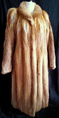 The original full leather fur red fox long fur coat size XL #Unbranded #BasicCoat
