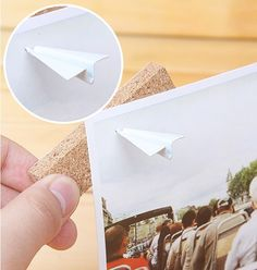 Paper Plane Push Pins