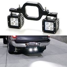 Amazon.com: iJDMTOY® Tow Hitch Mount 40W High Power CREE LED Pod Backup Reverse Lights/Rear Search Lighting/Off-Road Work Lamps For Truck SUV Trailer RV, etc: Automotive