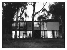 drawing of case study house #8 charles ray eames 1946 - Google Search