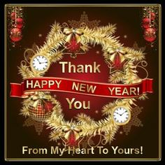 A New Year Thanks...