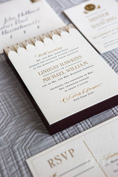 Classic & Elegant New York City Wedding - Photos by Glen Allsop of Christian Oth Studio   Florals by Hana Floral Design   Stationery by Fourteen-Forty   Gown by Johanna Johnson #fourteenforty #1440nyc #invitations #calligraphy #goldfoil