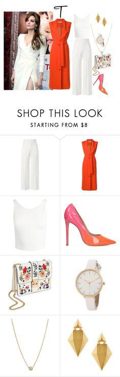 """Type of shape - T"" by molodid on Polyvore featuring мода, Versace, Roland Mouret, VIVETTA, Sans Souci, Carvela, Miss Selfridge, ZoÃ« Chicco и Stephanie Kantis"