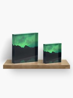 """Aurora"" Acrylic Block by juneaasheim Photographic Prints, Sell Your Art, Aurora, Diamond Cuts, Vibrant, It Is Finished, Crystals, Interior, Artist"