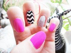 Pink, chevron and frost!