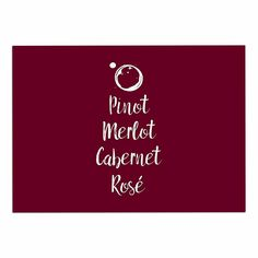 KESS InHouse KESS Original 'Pinot, Merlot, Cabernet, Rosì ' White Red Dog Place Mat, 13' x 18' ** New and awesome dog product awaits you, Read it now  : Dog food container