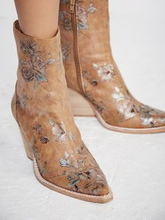 Jeffrey Campbell + Free People Brown Print Peyton Ankle Boot at Free People Clothing Boutique