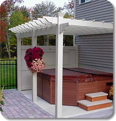 """The Willow"" #Vinyl #Pergola kit manufactured by #BackyardAmerica"