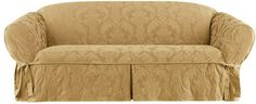 Sure Fit Matelasse Damask Box Cushion Sofa Slipcover