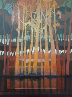 landscapes – Page 6 – Judith Bergerson / JackPine Studio Abstract Landscape Painting, Abstract Nature, Landscape Art, Landscape Paintings, Abstract Art, Tree Paintings, Landscape Quilts, Illustration, Contemporary Landscape
