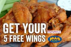 PLUCKER'S:  Now thru August 24th receive 5 FREE bone-in wings from Plucker's.   Minimum $2 purchase (basically, a drink).  (Facebook offer)