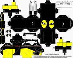 #Cubee #Craft #Fan #Art. (X-Men Deadpool Cubee) By: BobTheEgg.