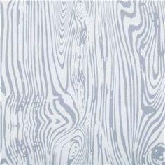 Gris & blanc Mime Wood Grain tissu BTY avec FREE Shipping USA 100 % coton matelassage vêtements artisanat maison décor