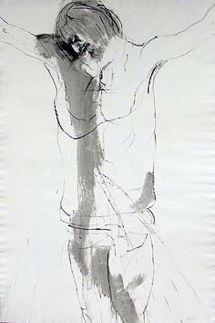 """The Penalty of the Cross  Leonard Baskin  The Divine Comedy   40"""" x 27"""""""