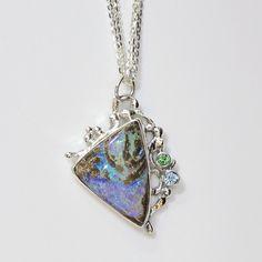The Kalled Gallery — Jennifer Kalled Sterling Silver Boulder Opal Pendant