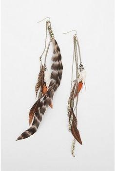 Vagabond Feather Earring - StyleSays