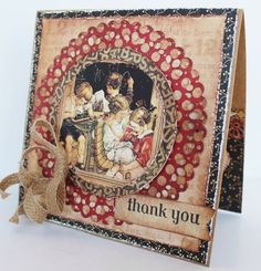 """An ABC Primer """"Thank You"""" card by Pam Bray. So gorgeous! #graphic45"""