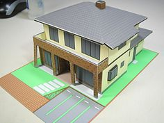 Easy Paper Craft House - architectural models of the mansion, Aichi Prefecture Mikawa 20 years been involved in architectural models made from local Toyohashi