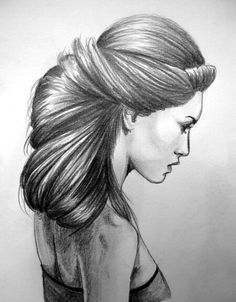 DeviantArt is the world's largest online social community for artists and art enthusiasts, allowing people to connect through the creation and sharing of art. Girl Drawing Sketches, Pencil Drawings, Art Drawings, Hair Illustration, Hair Sketch, Realistic Drawings, How To Draw Hair, Black And White Pictures, Drawing Techniques
