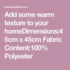Add some warm texture to your x Fabric Polyester Low Stock, Fur, Content, Texture, Fabric, Surface Finish, Tejido, Tela, Cloths