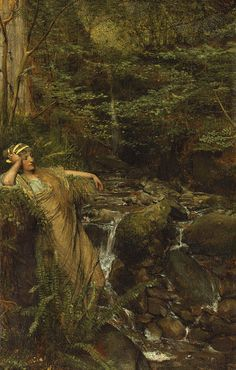 Lawrence Alma-Tadema Reverie (Waterfall Nymph) 1874