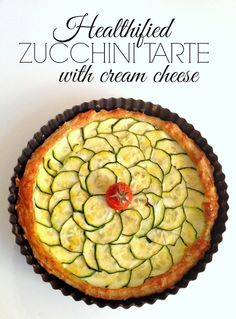 healthified zucchini tarte with cream cheese