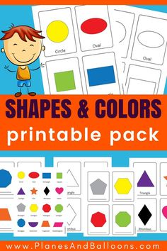 Shapes preschool printable flashcards and coloring pages. 16 different shapes for preschool and kindergarten to teach. Printable shapes activities for classroom or home. #shapes #flashcards #coloringpages #preschool #kindergarten #shapesandtherinames