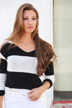 Black + Stripes Knit