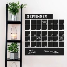 Chalkboard Calendar - Chalkboard Office Business Wall Decals  Sizes Available: 23 wide x 24.5 tall - $27.00 30 wide x 32 tall - $35.00 36 wide