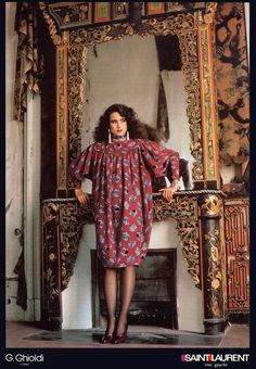 1986 YSL Rive Gauche ad featuring Andie Mac Dowell