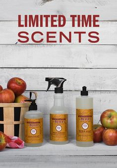 While the bright colors of fall decorate the trees, let the new scent of Apple Cider brighten  your home. This uplifting and inspiring collection freshens everything from dishes to hands with crisp apple scent. Click to learn more about our limited edition Apple Cider products.