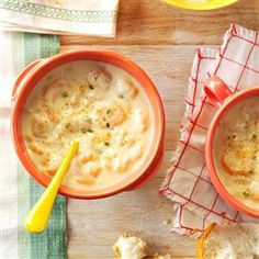 Shrimp Chowder - !! warm treat without to many calories. It's a HUGE Hit in my home