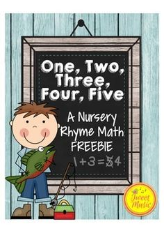 Nursery Rhyme Math Freebie! Perfect for your Pre-K/Kindergarten classroom, this freebie is all about numbers and counting. Included in this package are activities for subtracting up to five, number words, counting and even a ten frame fish is included for you to create number games (such as ordering and counting).