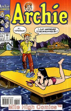 Archie and Veronica Archie Comics Characters, Archie Comic Books, Vintage Comic Books, Vintage Comics, Comic Book Characters, Archie Betty And Veronica, Coraline Art, Archie Comics Riverdale, Dan Decarlo